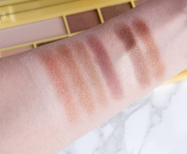Makeup Revolution Naked Chocolate swatches