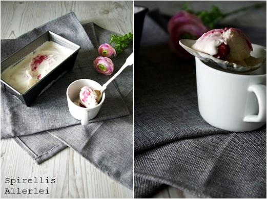 Spirellis Allerlei - Do it yourself Einfaches Eis mit Himbeeren und Sahne