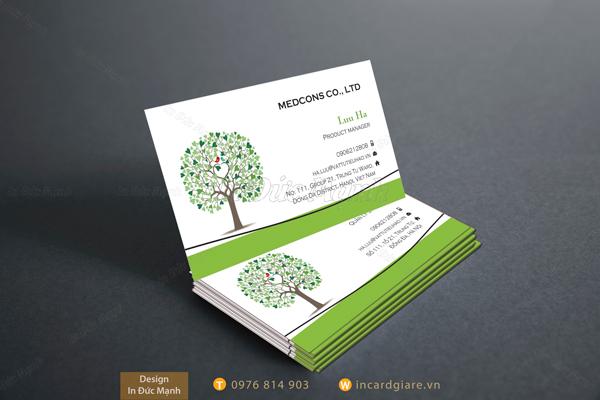 Mẫu card visit về cây trồng