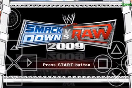 Download WWE Smackdown vs Raw 2009 for Android PPSSPP ISO High Compress Full Version Terbaru Gratis