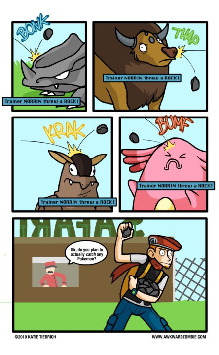 Funny Pokemon comic about the Safari zone