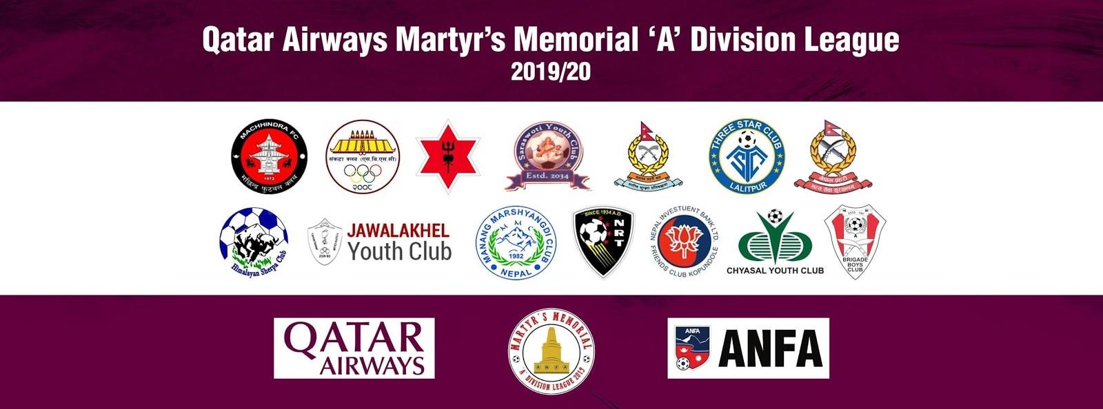 Qatar Airways Martyr's Memorial 'A' Division League 2019-2020