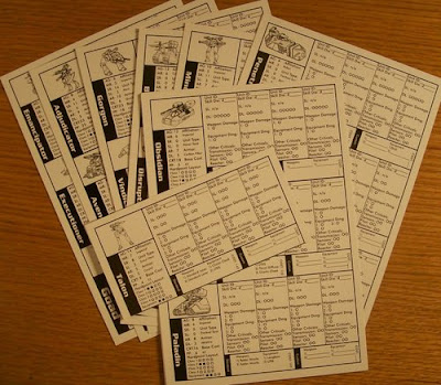 29 vehicle data cards
