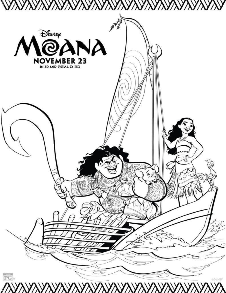 Disneys Moana Coloring Sheets
