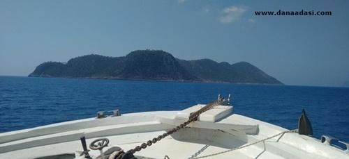 Dana Adasına tekneyle yolculuk