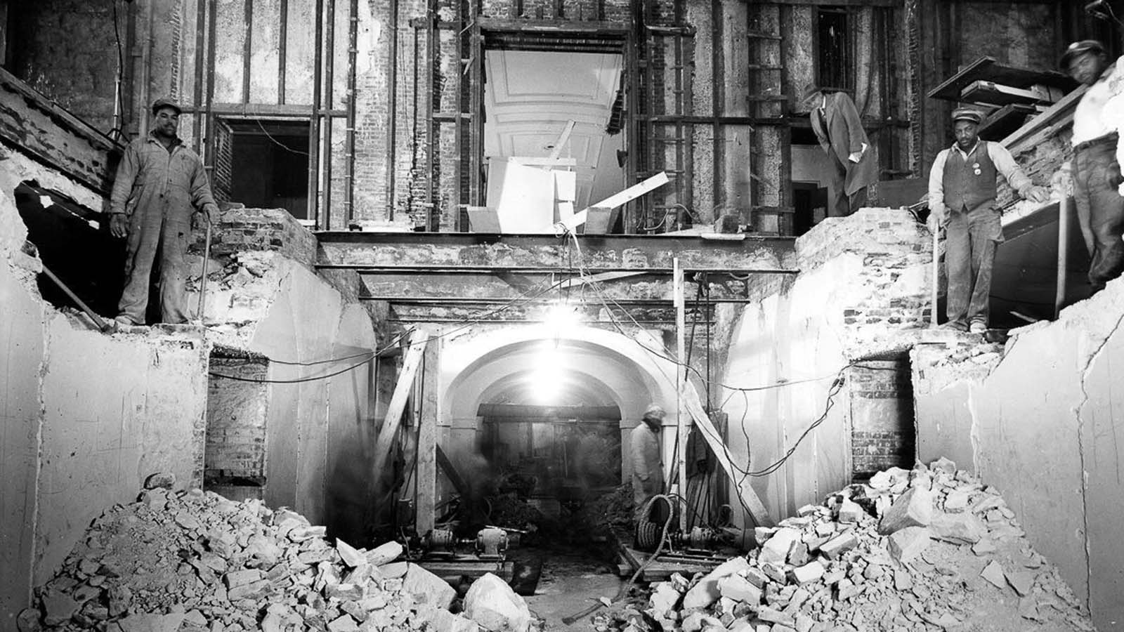 Lower corridor renovation. 1952.