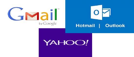 Capacidad de almacenamiento de Hotmail, Gmail y Yahoo