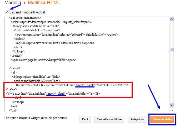 Come fare blog come aprire i link del menu pagine di blogger in una nuova finestra del browser - Aprire una nuova finestra ...