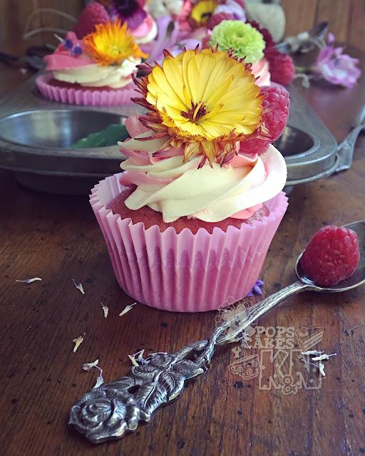 cupcakes frambuesa y mango