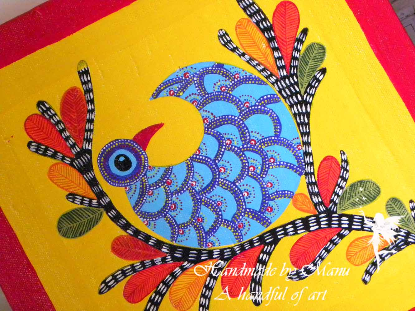 Gond painting for Art and craft drawing and painting