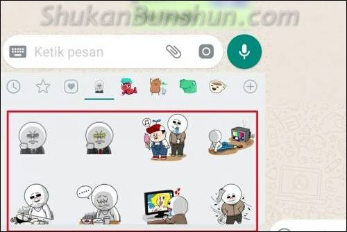 Stiker Line ke WhatsApp di Sticker WA