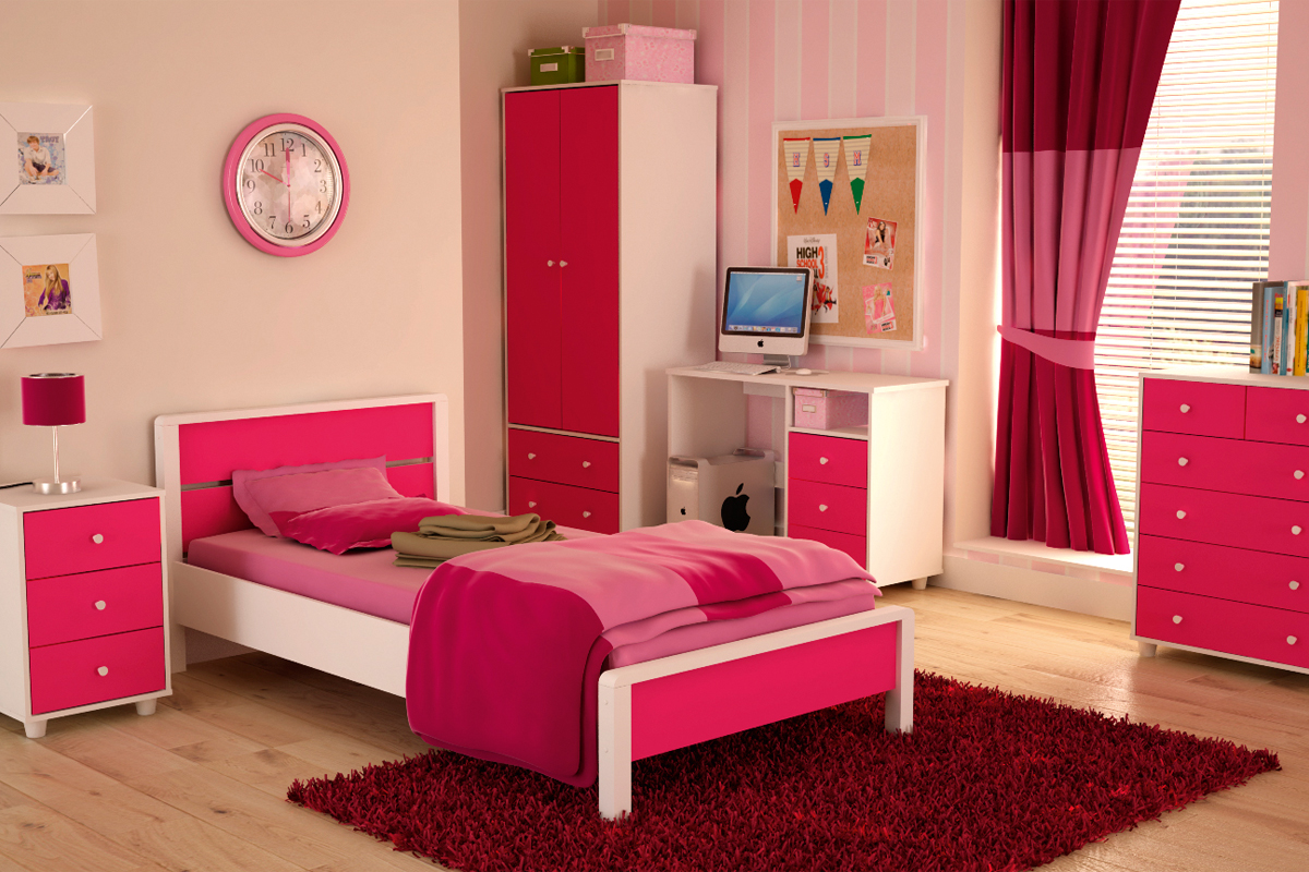 غرف نوم بنات موضة