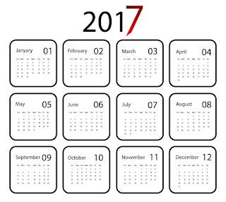 2017カレンダー無料テンプレート221