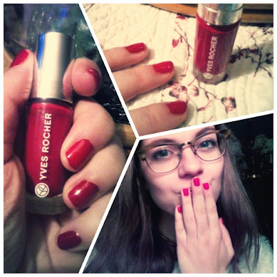 yves rocher red framboise nailpolish review