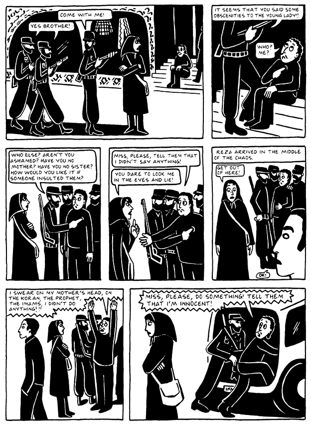Read Chapter 14 - The Makeup, page 132, from Marjane Satrapi's Persepolis 2 - The Story of a Return