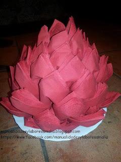 flor de navidad de papel
