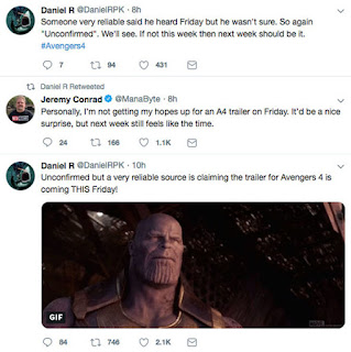 Avengers 4 Trailer debut this FRIDAY, claims a reliable source