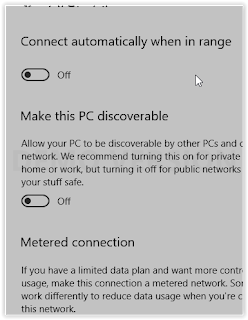 toggle off automatically connect