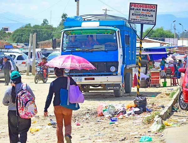 Botar basura en Tarija no tiene sanción
