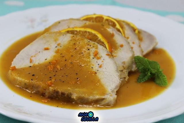 Lomo a la naranja Ana Sevilla  cocina tradicional