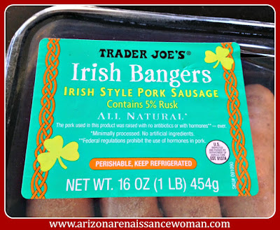 Trader Joe's Irish Bangers for Bangers and Mash Tacos