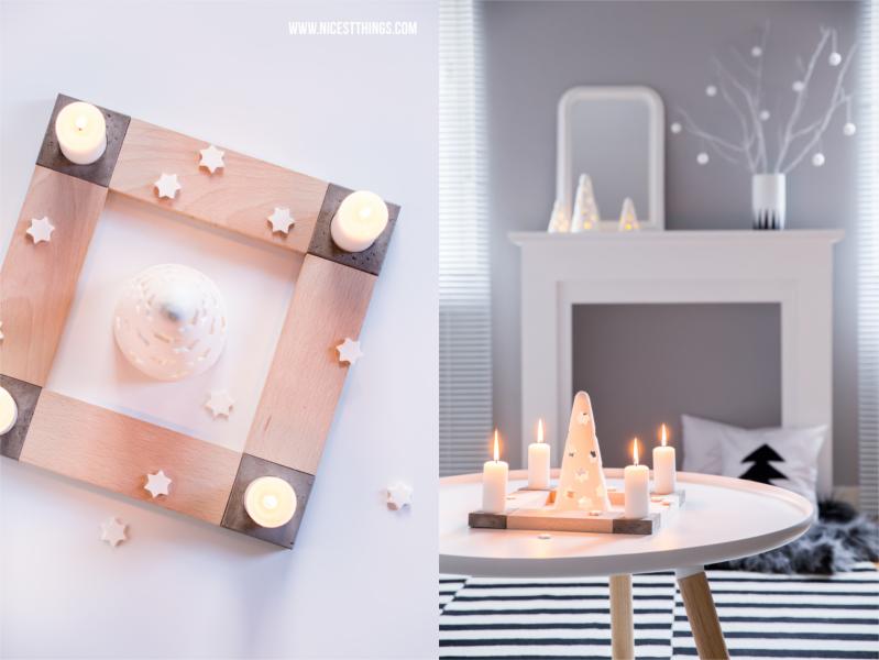 Weihnachtsdeko: Adventskranz aus Holz und Beton & Kaminkonsole Nicest Things Bloglovin'