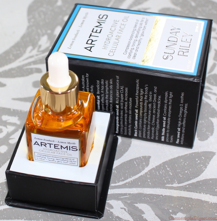 Review of Sunday Riley Artemis Hydroactive Cellular Face Oil, for oily or combination, acne-prone skin.