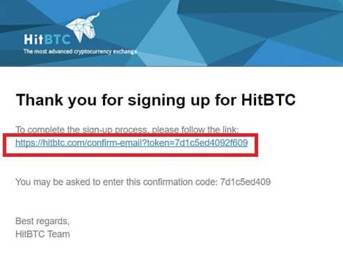 confirmar mail en HITBTC comprar nem