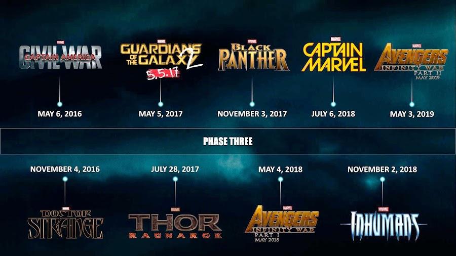 Marvel-Fase-3 calendario