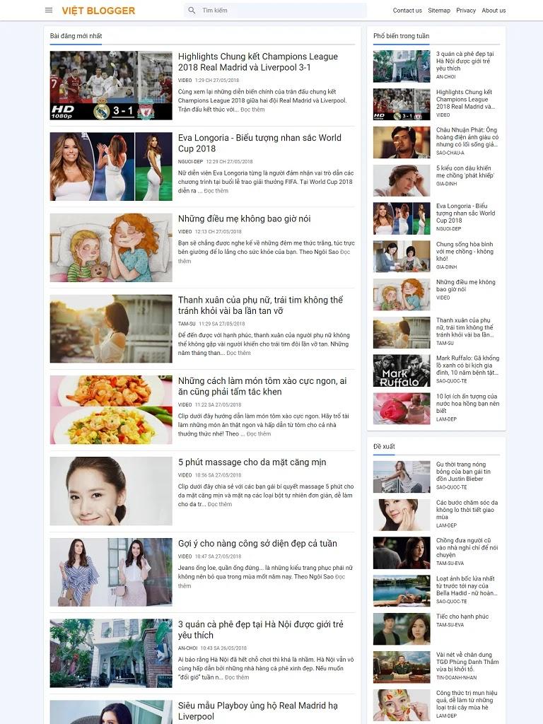 Template blogspot chia sẻ thủ thuật blog load nhanh chuẩn seo