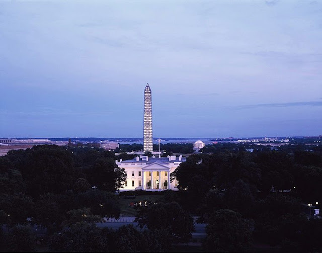 Landscape of the Washington Monument and the White House