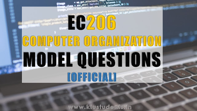 Model Question Paper for EC206 Computer Organization