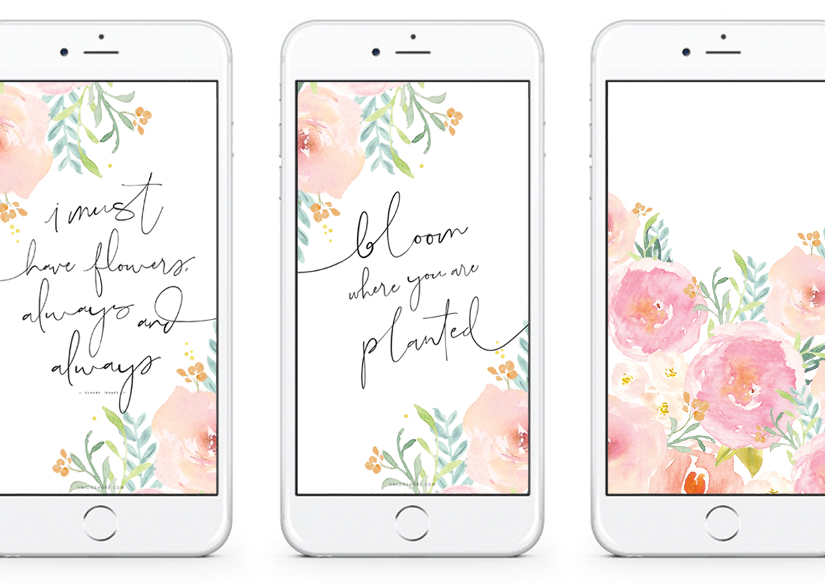 Free Download - Spring Floral Phone & Desktop Wallpapers - Union Shore Blog