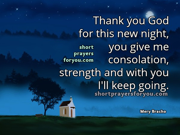 Nice bedtime short prayer for you and me, christian images, good night prayer, christian quotes by Mery Bracho.