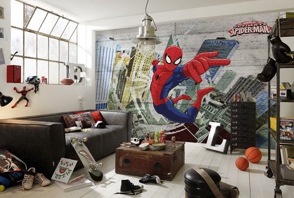 tapet barn fototapet spiderman fototapet spindelmannen tapet barnrum marvel