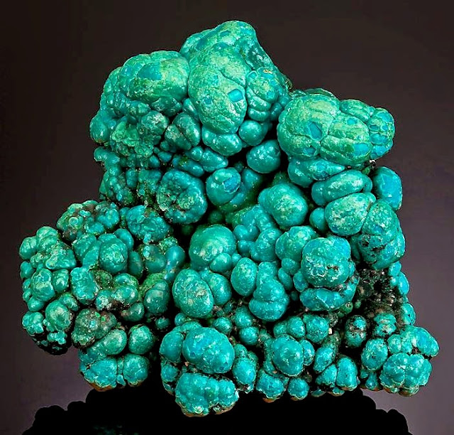 Botryoidal Specimen of Deep Blue and Green Chrysocolla