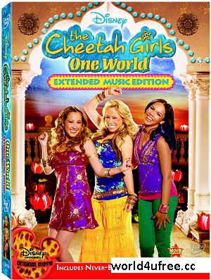 The Cheetah Girls One World 2008 Dual Audio 100mb BRRip HEVC Mobile hollywood movie in hindi english dual audio compressed small size mobile movie free download at https://world4ufree.ws