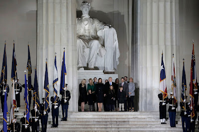Donald Trump, Trump-beiktatás, Mike Pence, USA, Trump-family, Lincoln Memorial, Capitolium