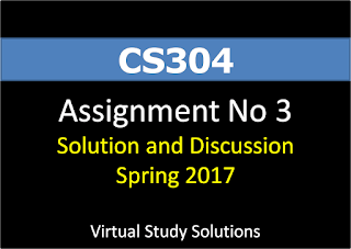 CS304 assignment No 3 Solution Spring 2017
