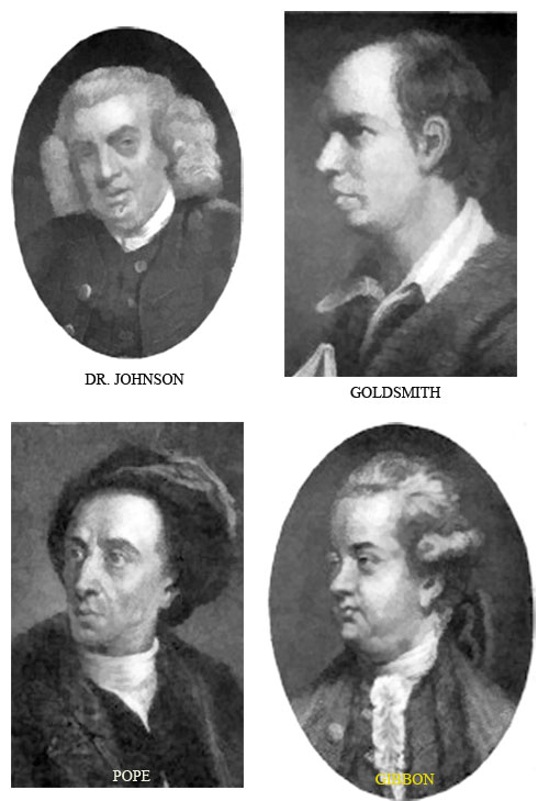 DR. JOHNSON, GOLDSMITH, POPE, and GIBBON
