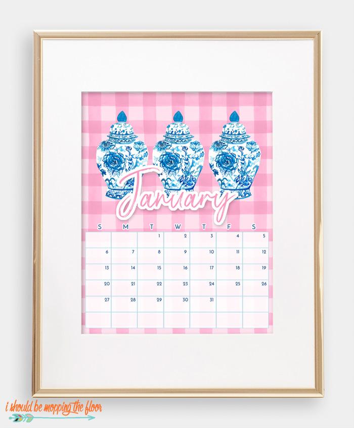 January Chinoiserie Calendar