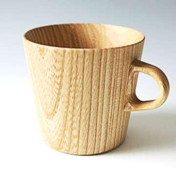 Diseño de taza de madera