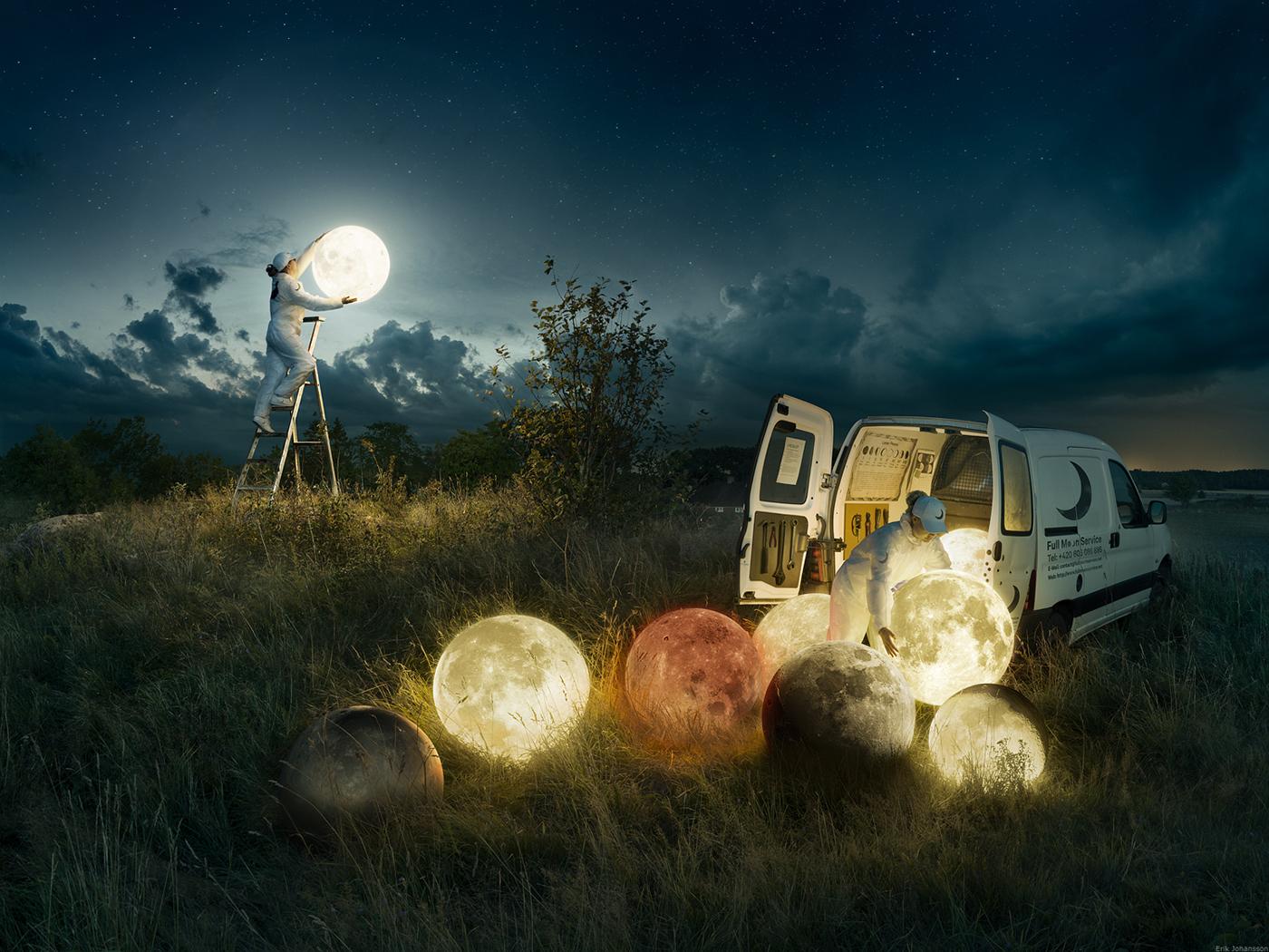 Full Moon Service Erik Johansson Fotografía