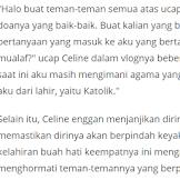 Celine Evangelista Mendadak Unggah Video Ceramah Quraish Shihab, Mau Jadi Mualaf?