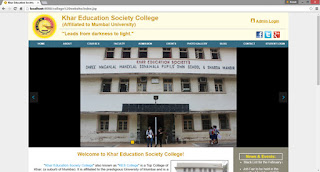 Cover Photo: KES College - Website Design by Ronak Sawant