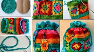 Cómo hacer un bolso multicolor tejido al crochet