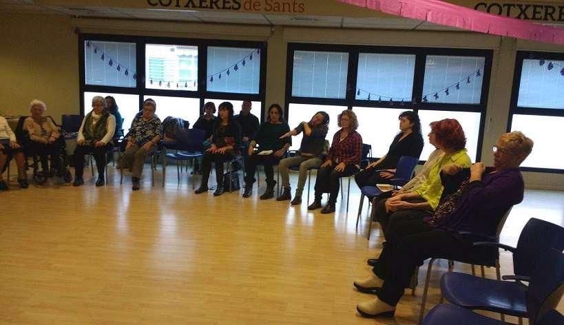 Angels Ganyet - Mindfulness per la Pau, para Coratge de Gènere, organiza deixalatevaempremta.org
