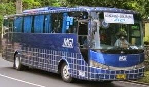 rute dan tarif Bus MGI Depok, Cibinong, Bandung, Coleungsi, Bogor, Leuwi Liang