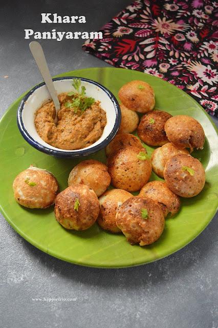 Chettinad Khara Kuzhi Paniyaram Recipe | Kuzhi Paniyaram | Kara Paniyaram