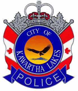 img City of Kawartha Lakes Official Police Logo red blue and silver